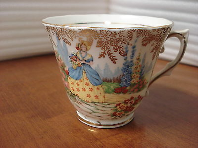 TEA CUP ONLY Colclough GATHERING FLOWERS TC1 England ORPHAN