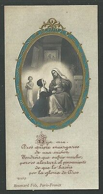 Estampa antigua de Santa Catalina Laboure  andachtsbild santino holy card