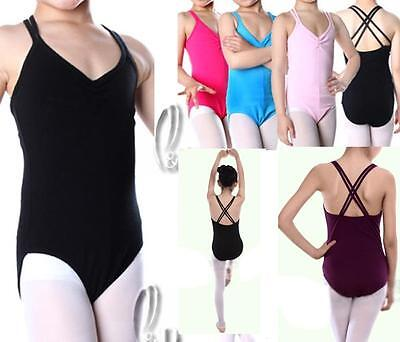 AU SELLER Girls Ladies Cotton Tank Dance Ballet Gymnastics Leotard da006
