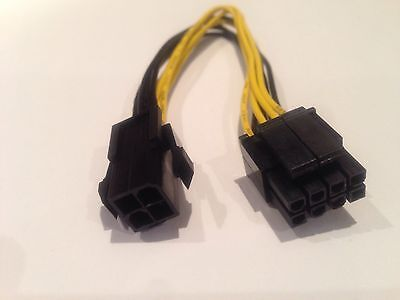 23cm ATX 4 Pin to 8 Pin CPU Power Cable Adapter for Motherboard PSU - AUS STOCK