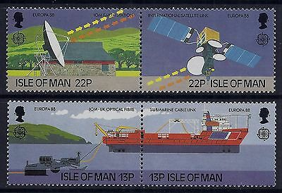 1988 Isle Of Man Europa: Modern Communications Set Of 4 Fine Mint Mnh/muh