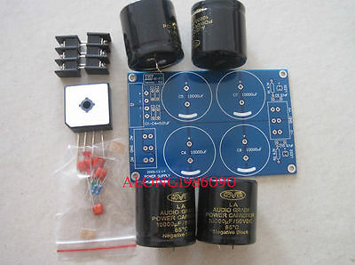 ZG Amplifier PSU kit with 4 X10000uFNover LA Audio Grade Capacitor/Power supply