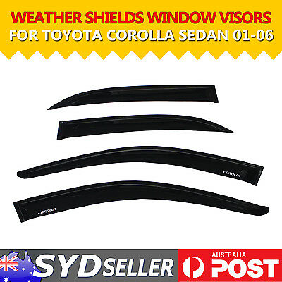 Premium Weathershields Weather Shields Window Visors Fits Toyota Collora 2003-on