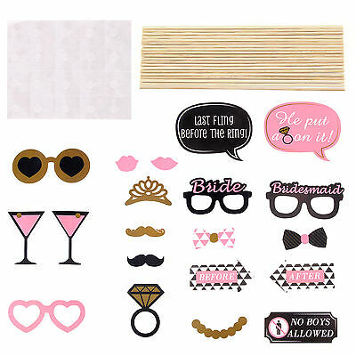 20 Hen Party Selfie Photo Props Booth Kit Hen Night Games, Accessories & Favours