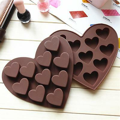 New Heart Silicone Fondant Mould Cake Candy Jelly Chocolate Muffin Baking Mold O