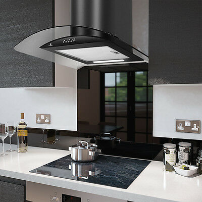 PRX60B Cooker Hood with Colour Fitted Splashback - Extractor Fan plus Splashback