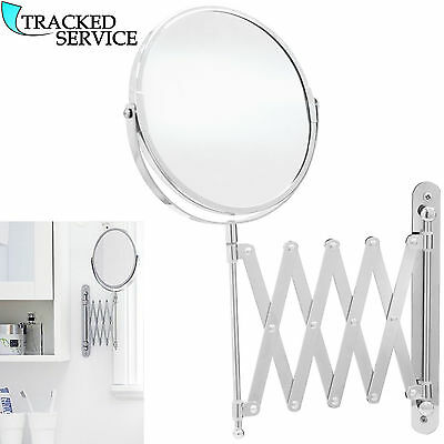 Extending Wall Mounted Mirror Bathroom Cosmetic Shaving Mirror Magnifying Makeup