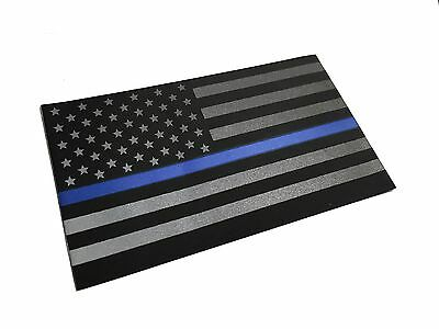"""High Reflective 2x3"""" Decal Thin Blue Line, Law Enforcement Support Sticker decal"""