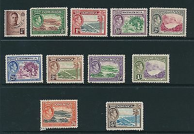 Dominica 1938 SG 99-108 MNH