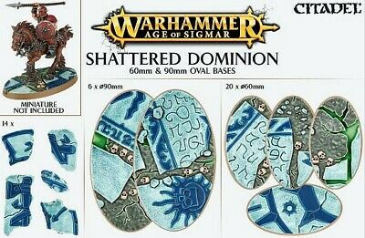 Shattered Dominion 60 und 90mm Oval Bases (26 Bases) Games Workshop Oval Base