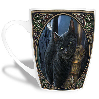 "Lisa Parker Gothic Wicca Black Cat ""brush With Magic"" Mug,cup"