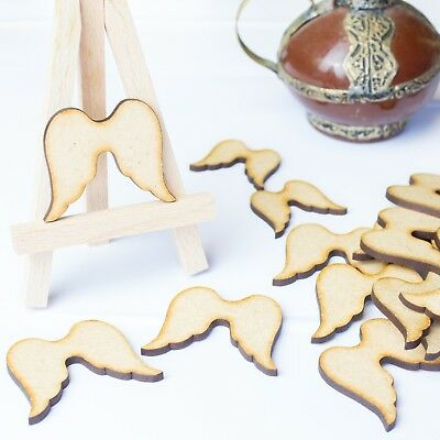 Angel Wings MDF Wooden Christmas Wedding Card-making Scrap-booking Decor Shapes