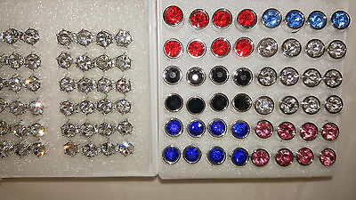 Joblot 48 pairs 5mm&7mm Hypoallergenic Diamante stud Earrings- NEW Wholesale 2
