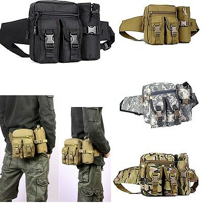 Popular Tactical Hiking Camping Cycling Waist Fanny Pack Water Bottle Pouch Bag
