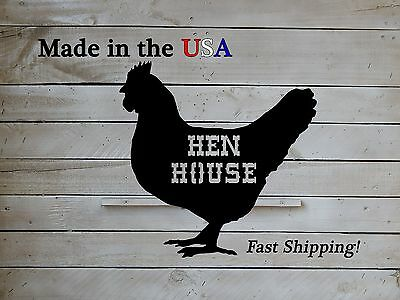 Chicken Country Decor Rooster Coop Decor S1061 Hen House Sign Metal Art