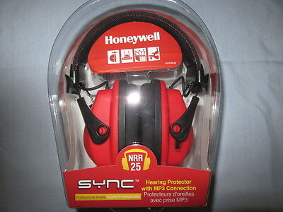 NEW Honeywell SYNC Hearing Protection-NRR 25 Earmuffs with MP3/Stereo Connector