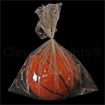 """100 Pack - 18""""x24"""" Clear Poly Bags - 1 mil - Open Top Flat Plastic Bag Food Safe"""