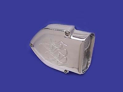 V-Twin 34-0640 - Chrome V-Charger Air Cleaner with Flame