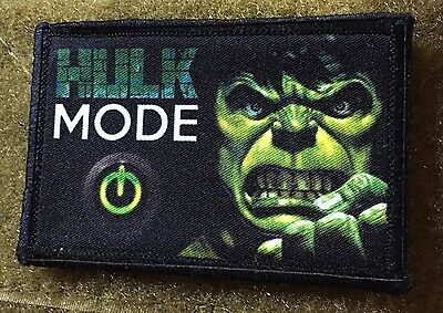Hulk Mode Morale Patch Tactical Military Tactical Army Hook Badge Flag USA