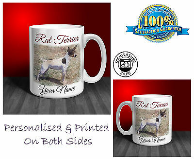 Rat Terrier Personalised Ceramic Mug: Perfect Gift. (D034)