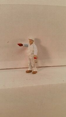 Arttista S Scale Figure 751 - Painter Man Painting - People - Model Trains - New