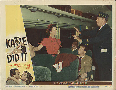 Katie Did It 1951 Original Movie Poster Comedy Romance