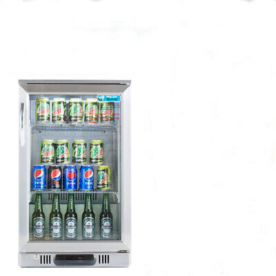 2017 Single Door Bar Fridge Beer Alfresco Under Bench Stainless Steel 140L