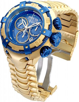 21347 Invicta Reserve Mens 52mm Thunderbolt Swiss Chronograph SS Bracelet Watch