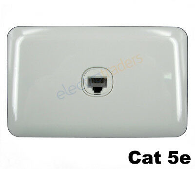 1 Gang wall Plate Wafer Series Cat 5e Data Point