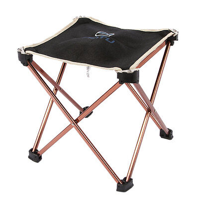 Lightweight Folding Aluminum Four Leg Stool Chair for Backpacking Hiking fishing