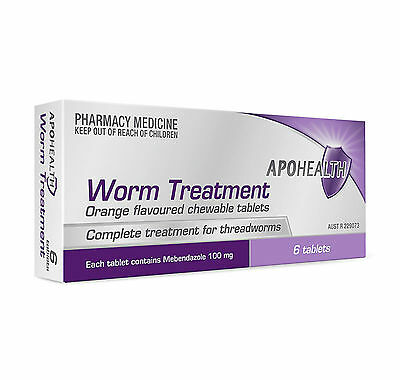 = PRICE SMASH APOHEALTH Deworm Tablets (= Vermox or Combantrin1 ) 6 tablets