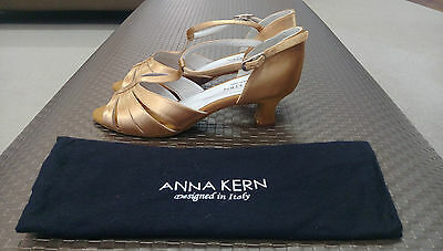 Anna Kern Satin Bronze Women's Ballroom Shoes size 5 UK