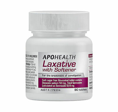 = Clearance APOHEALTH LAXATIVE WITH SOFTENER 90 TABLETS AS COLOXYL WITH SENNA