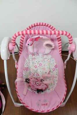 Baby Swing Chair Infant Newborn Swinger Rocker PORTABLE FOLDING Battery Operate