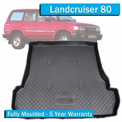Toyota Landcruiser 80 Series - With 3rd Row (1991-1998) - Boot Liner / Cargo Mat