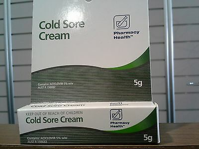 3x P/Health Cold Sore Cream 5g equivalent to Zovirax  (BIGGER TUBE AND CHEAPER)