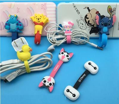 10pcs/lot Cute Animal Earphone Cord Winder Wrap organizer Earbud Cable Ties Hold
