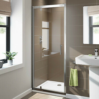 760/800/860/900/1000mm wall to Wall Shower Screen Enclosure Framed Pivot door