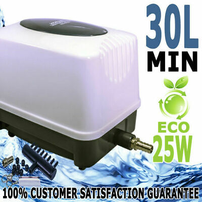 Hopar Aquarium Fish Tank Pond Oxygen Air Pump Aqua Blower 30L/Min ECO 25W