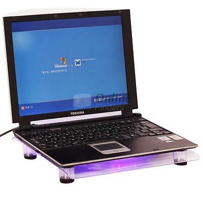 "14-15.4"" Notebook Laptop USB LED Light Powerful Cooler Fan Cooling Stand Pad UK"