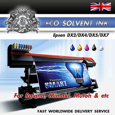 4 Liters (CMYK) Epson DX2/4/5/7 NEW Eco Solvent ink for Roland, Mimaki, Mutoh
