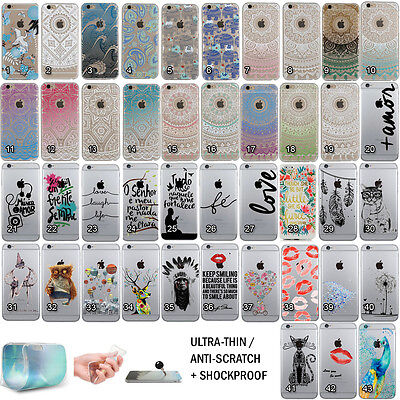 Shockproof Pattern Ultra Thin Soft TPU Skin Case Cover for iPhone 6 6s Plus