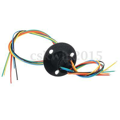 Schleifring 12.5mm 300Rpm 6 Wires Circuits Capsule Slip Ring 240V 2A Für Monitor