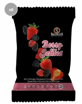 909605 4 x 70g BAGS OF BERRY JELLIES: GLUTEN FREE, SUGAR FREE, LOW CARB, LOW FAT