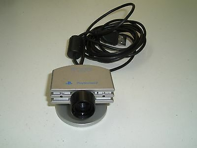 Playstation 2  - PS2 - Eye Toy Camera - SCEH-0004 - silber + Eye Toy Play
