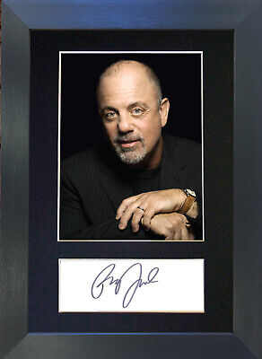 BILLY JOEL Signed Mounted Autograph Photo Prints A4 475