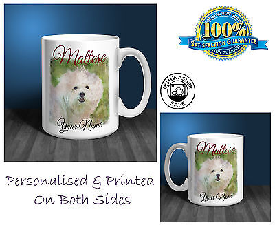 Maltese Personalised Ceramic Mug: Perfect Gift. (D117)