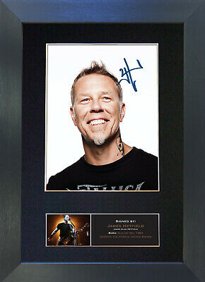 JAMES HETFIELD metallica Signed Mounted Autograph Photo Prints A4 473