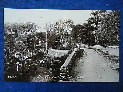 Tal-Y-Bont: The Old Smithy - Scarce Real Photo Postcard