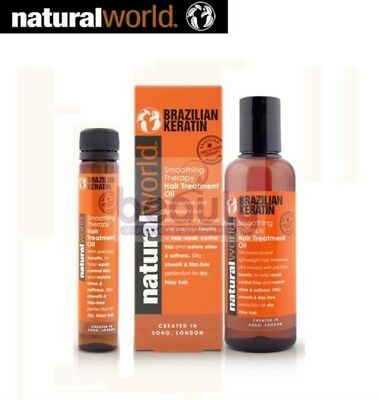 Brazilian Keratin Blowdry Straightening  Hair Treatment Oil Natural World